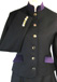 J 1 navy single breasted jacket, purple velvet trim with silver buttons.jpg