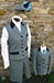 J 10 single breasted gillet Navy velvet trim Shown with matching cropped trousers 2.jpg