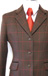 J 100 dark brown tweed with red overcheck Exclusive to Le Beau Cheval.jpg