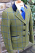 J 11 light olive green tweed with bold blue and dark olive overcheck.JPG