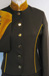 J 2 brown single breasted jacket, gold velvet trim with gold buttons.jpg