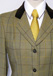 J 51 green tweed with yellow,brown, navy and gold overcheck.JPG