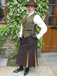 J 6 waistcoat  with  brown velvet trim. shown with toning brown skirt.JPG