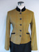 J 69 single breasted jacket, golden mustard tweed, red, yellow, blue and green overcheck with navy velvet trim.jpg