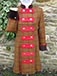 J 74 double breasted coat dress with military style tabs and turn back cuffs Rusty brown tweed with dark, light red and brown overcheck.JPG