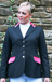 SJ 09 charcoal grey jacket with cerise velvet trim and silver piping.jpg