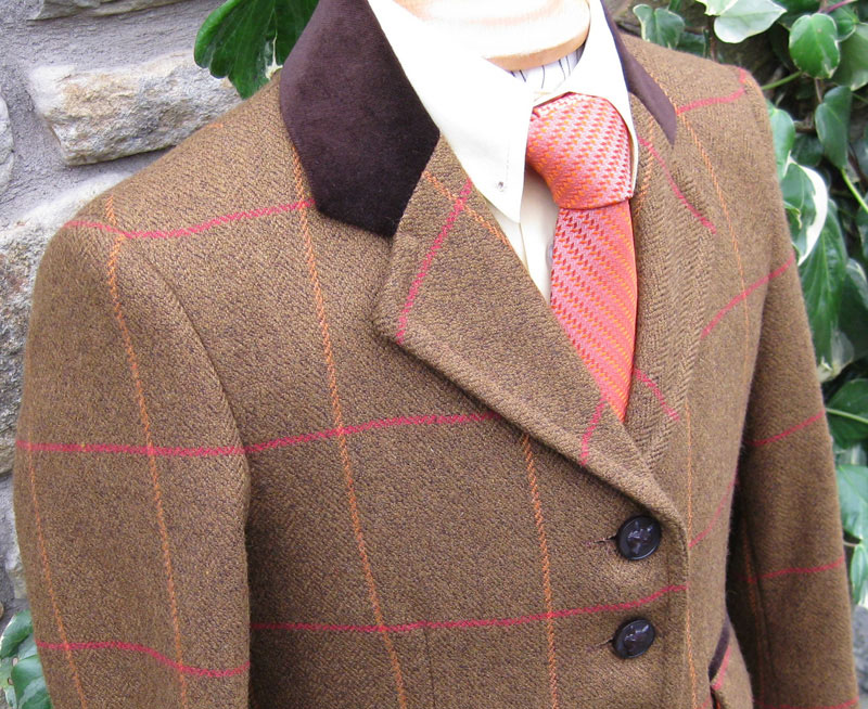 J 47 rusty brown tweed with red and  orange overcheck.jpg
