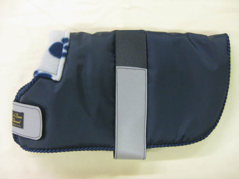 WDC  06 Navy with navy piping Lined with grey and navy paw fleece.JPG